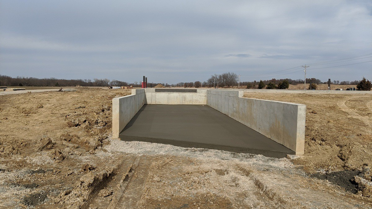 wendell pre-engineered building concrete flatwork